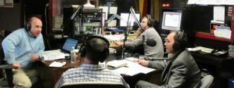 W studio Polskiego Radia w Nowym Jorku 910 AM