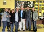 W studio Polskiego Radia w Nowym Jorku 910 AM_cala ekipa